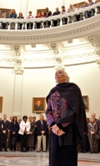 Ms. Conrad Smith receives the long overdue honor at the Texas State Capitol.