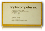 Steve Jobs' business card started with a clear role.