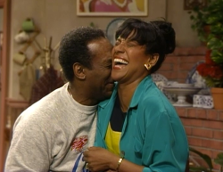 Phylicia Rashad with Bill Cosby as Cliff and Claire.